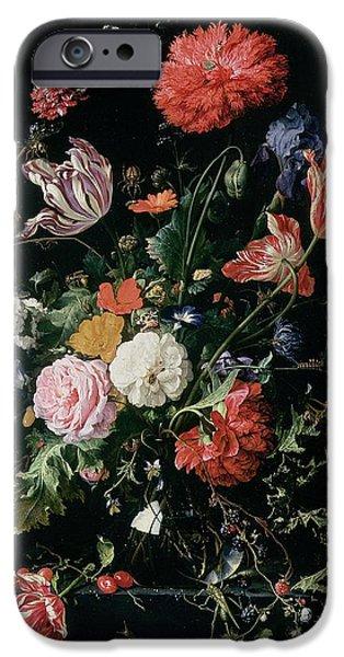 Grasshopper iPhone 6s Case - Flowers In A Glass Vase, Circa 1660 by Jan Davidsz de Heem