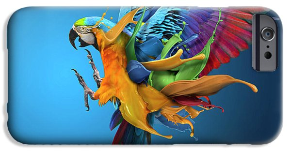 Parrot iPhone 6s Case - Flying Colours by Sulaiman Almawash