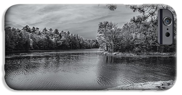 Fork In River Bw IPhone 6s Case by Mark Myhaver