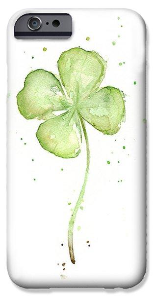 Four Leaf Clover Lucky Charm IPhone 6s Case by Olga Shvartsur