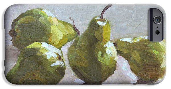 Pear iPhone 6s Case - Four Pears by Ylli Haruni