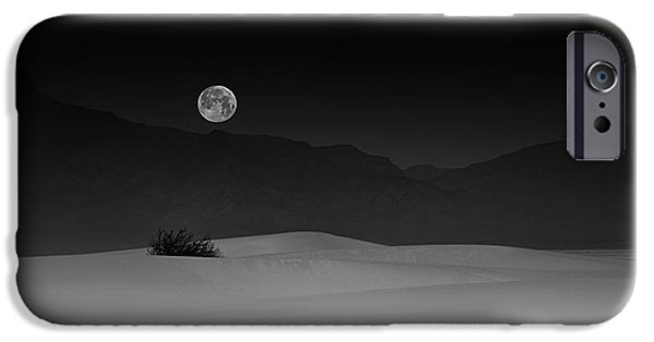 Simple iPhone 6s Case - Full Moon Over White Sands by Lydia Jacobs