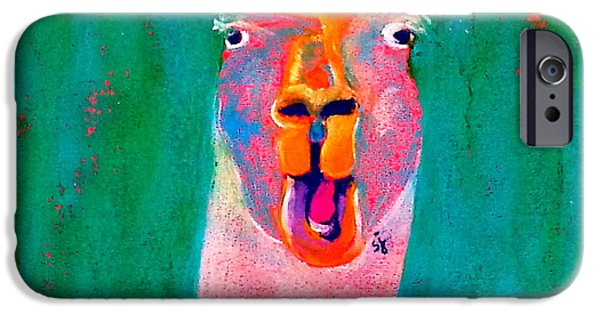 Funky Llama Art Print IPhone 6s Case