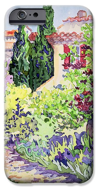 Garden At Vaison IPhone Case by Julia Gibson