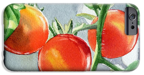 Garden Cherry Tomatoes  IPhone 6s Case by Irina Sztukowski
