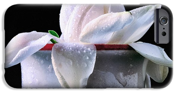 IPhone 6s Case featuring the photograph Gardenia In Coffee Cup by Silvia Ganora