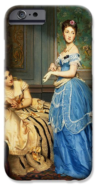Ostrich iPhone 6s Case - Getting Dressed, 1869 by Charles Edouard Boutibonne