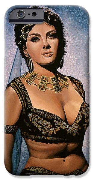 Falcon iPhone 6s Case - Gina Lollobrigida Painting by Paul Meijering