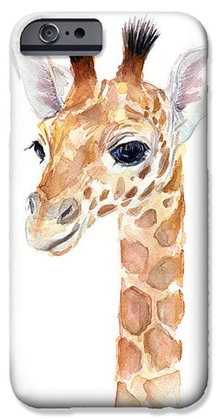 Giraffe Watercolor IPhone 6s Case