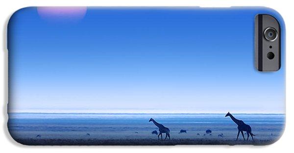 Giraffes On Salt Pans Of Etosha IPhone 6s Case