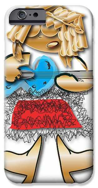 IPhone 6s Case featuring the digital art Girl Rocker 6 String Guitar by Marvin Blaine