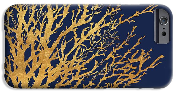 Gold Medley On Navy IPhone 6s Case by Lanie Loreth