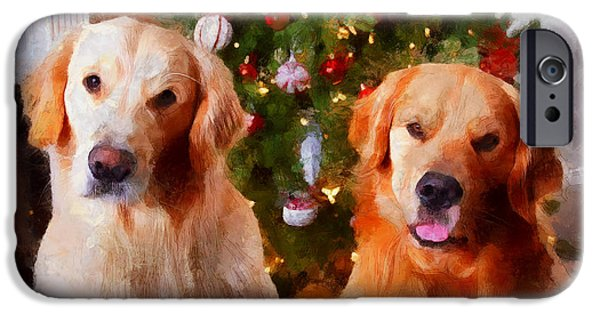 Golden Christmas IPhone 6s Case