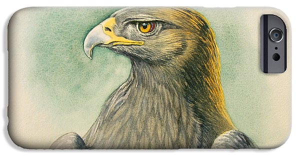Eagle iPhone 6s Case - Golden Eagle Portrait by Paul Krapf