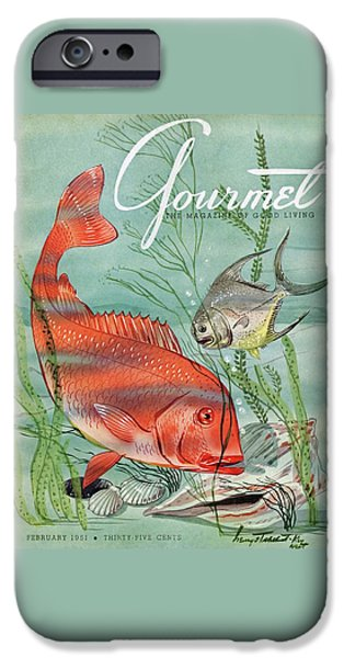 Gourmet Cover Featuring A Snapper And Pompano IPhone 6s Case by Henry Stahlhut