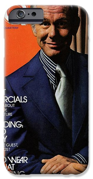 Gq Cover Of Johnny Carson Wearing Suit IPhone 6s Case by Bruce Bacon