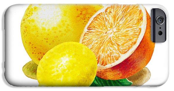 Grapefruit Lemon Orange IPhone 6s Case by Irina Sztukowski