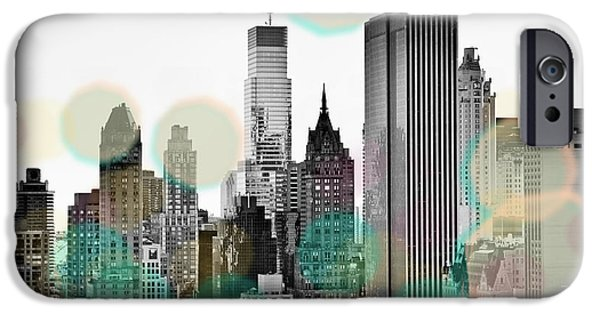 Office Buildings iPhone 6s Case - Gray City Beams by Susan Bryant