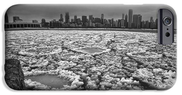 Gray Winter Chicago Skyline IPhone Case by Sven Brogren