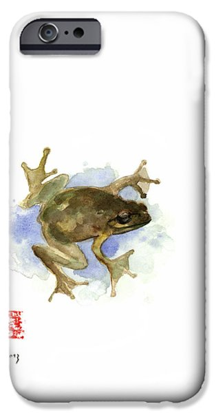 Green Yellow Blue Frog Lake River Animal World Water Colors Jewel Collection IPhone 6s Case by Johana Szmerdt