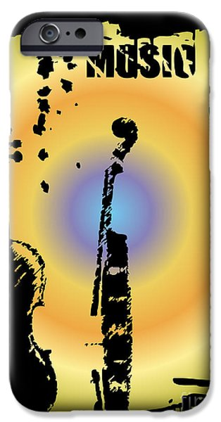 Drum iPhone 6s Case - Grunge Background Vector by Ozkan