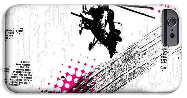 Helicopter iPhone 6s Case - Grunge Vector Background Illustration by Elanur Us