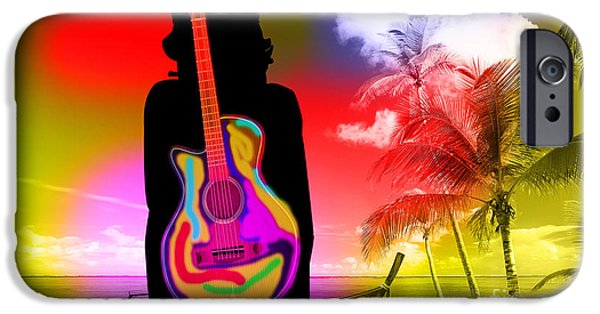 Guitar Girl At Beach IPhone 6s Case by Marvin Blaine
