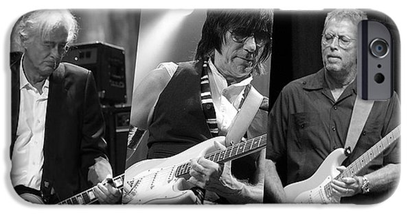 Guitar Legends Jimmy Page Jeff Beck And Eric Clapton IPhone 6s Case by Marvin Blaine