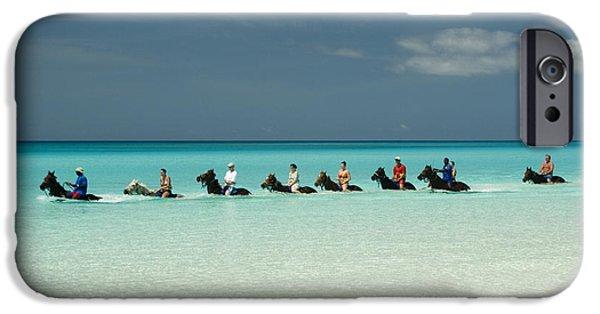 Cruise Ship iPhone 6s Case - Half Moon Cay Bahamas Beach Scene by David Smith