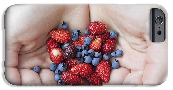 Blue Berry iPhone 6s Case - Hands Holding Berries by Elena Elisseeva