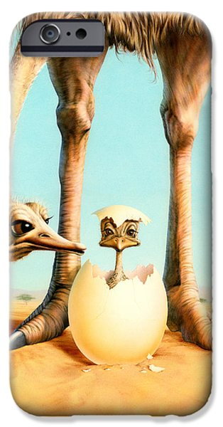 Ostrich iPhone 6s Case - Hello Mum by Andrew Farley