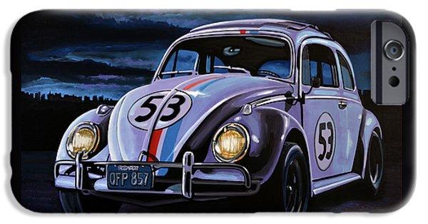 Beetle iPhone 6s Case - Herbie The Love Bug Painting by Paul Meijering
