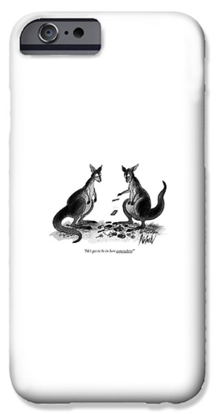 Kangaroo iPhone 6s Case - He's Got To Be In Here Somewhere! by Kenneth Mahood
