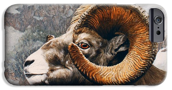 Rocky Mountain Bighorn Sheep iPhone 6s Case - High Country Bighorn by Dreyer Wildlife Print Collections