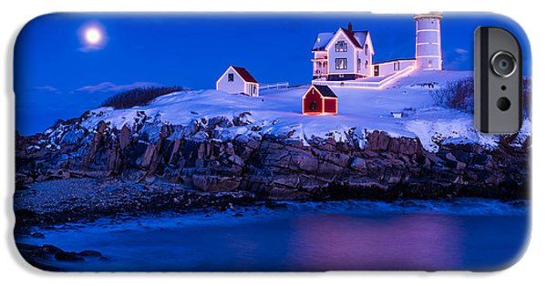 New England Coast iPhone 6s Case - Holiday Moon by Michael Blanchette
