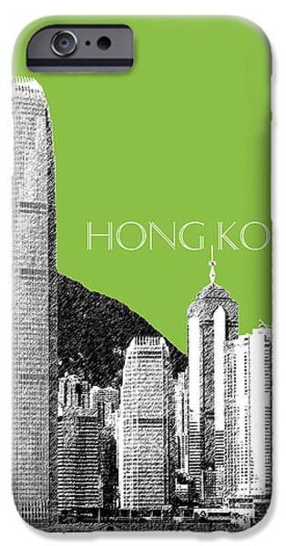 Hong Kong Skyline 1 - Olive IPhone 6s Case