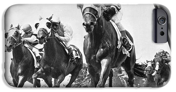Horse iPhone 6s Case - Horse Racing At Belmont Park by Underwood Archives