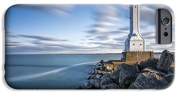 Huron Harbor Lighthouse IPhone 6s Case by James Dean
