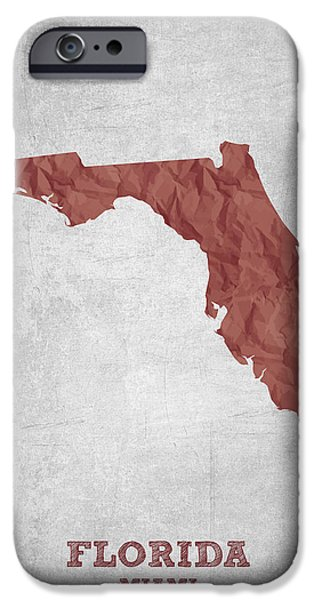 I Love Miami Florida - Red IPhone 6s Case by Aged Pixel