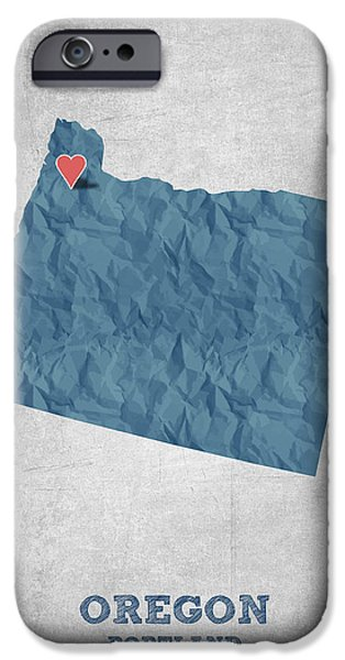 I Love Portland Oregon- Blue IPhone 6s Case