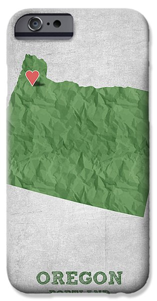 I Love Portland Oregon- Green IPhone 6s Case