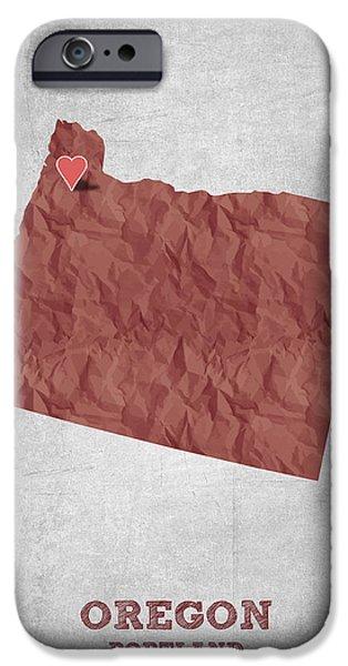 I Love Portland Oregon- Red IPhone 6s Case