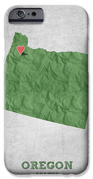 I Love Salem Oregon- Green IPhone 6s Case