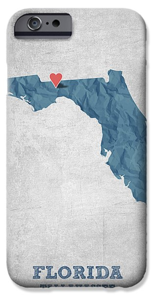 I Love Tallahassee Florida - Blue IPhone 6s Case by Aged Pixel