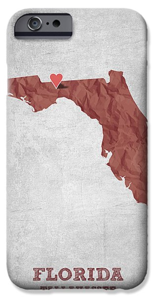 I Love Tallahassee Florida - Red IPhone 6s Case by Aged Pixel