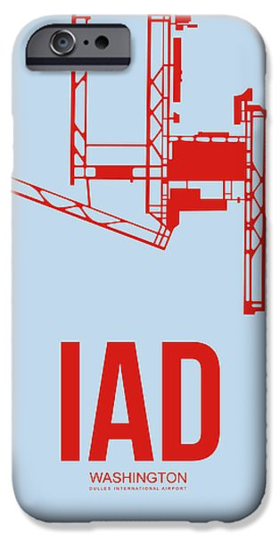 Iad Washington Airport Poster 2 IPhone 6s Case by Naxart Studio