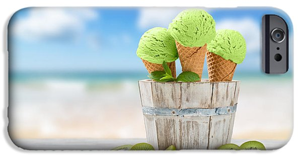 Kiwi iPhone 6s Case - Ice Cream At The Beach by Amanda Elwell