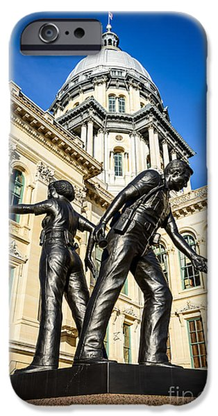 Illinois Police Officers Memorial In Springfield IPhone 6s Case by Paul Velgos
