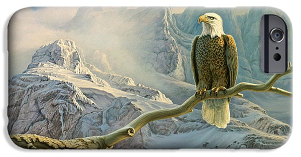 Eagle iPhone 6s Case - In The High Country-eagle by Paul Krapf