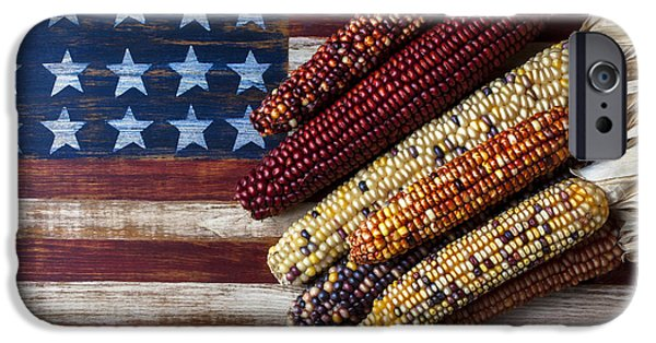 Indian Corn On American Flag IPhone 6s Case by Garry Gay